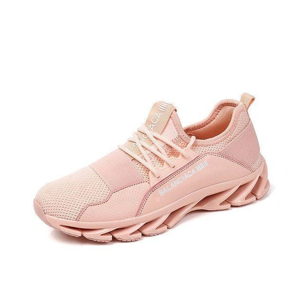 Women Sneakers Breathable Running Shoes Pink Athletic Shoes-Shoes-Pink-Le Style Parfait Kenya