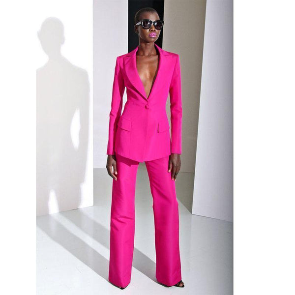 Women Suit Pants, 2-Piece Suit, Rose-Suit-Kenya-LeStyleParfait.Co.Ke
