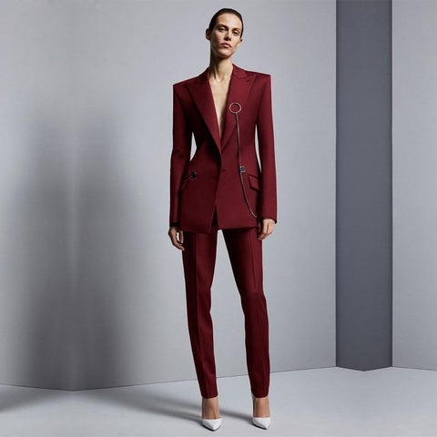 Women Suit Pants, Business Office Suits-Suit-Kenya-LeStyleParfait.Co.Ke