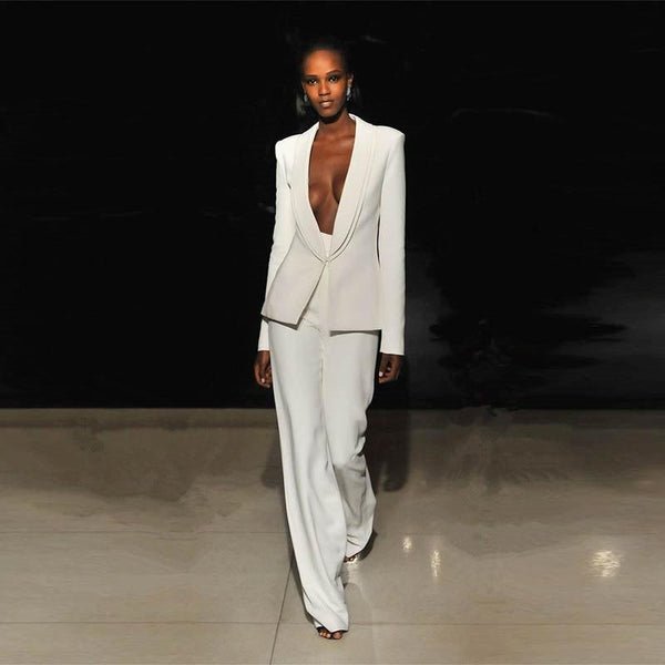 Women Suit Pants, White-Suit-Kenya-LeStyleParfait.Co.Ke