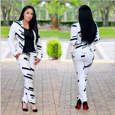 Women Suit Two-Piece Trouser Suit-Suit-Kenya-LeStyleParfait.Co.Ke