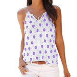 Women Summer Fashion Crop Top Print Sleeveless V-Neck Tank Tops-Women Tops-Kenya-LeStyleParfait.Co.Ke