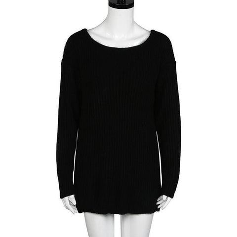 Women Sweaters Off Shoulder Pullover Sweaters-Sweaters-LeStyleParfait.Co.Ke