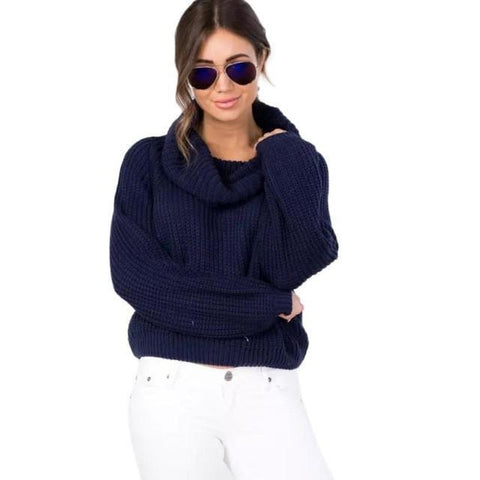 Women Sweaters Turtleneck Pullovers Loose Sweater-Sweaters-LeStyleParfait.Co.Ke