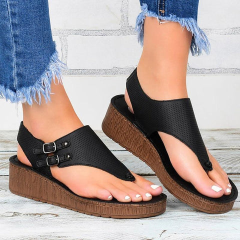 Women Wedge Sandals - Summer Sandals-Shoes-Online-Kenya-LeStyleParfait