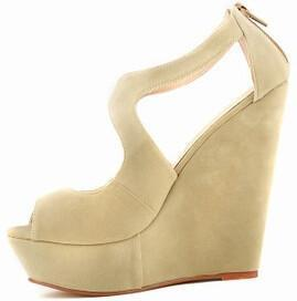 Women Wedge Shoes, High Heels Sandals, Big Size Shoes-Shoes-Apricot-Le Style Parfait Kenya