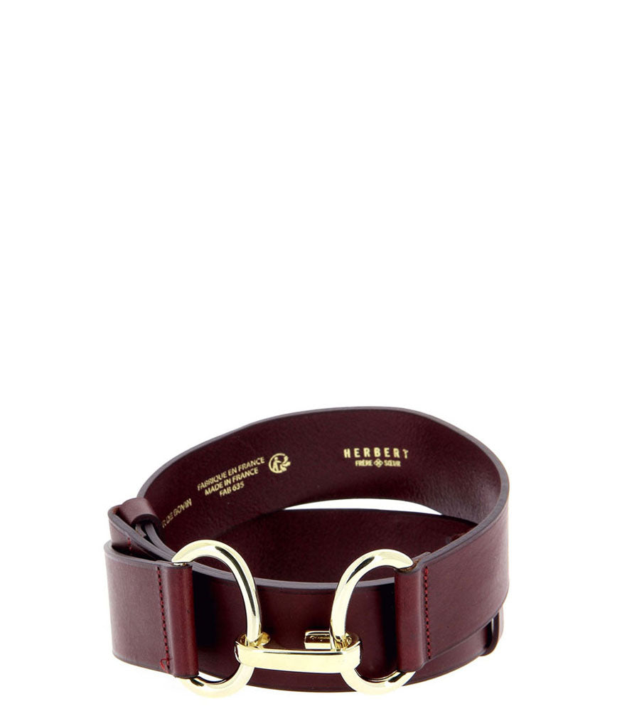 HERBERT CHANZY 39MM BORDEAUX BELT