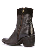 Madison Maison By Fauzian Jeunesse Dark Brown Leather Boot W/ Gold Star Detail