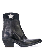 Madison Maison By Fauzian Jeunesse Navy Leather Boot W/ Silver Star Detail