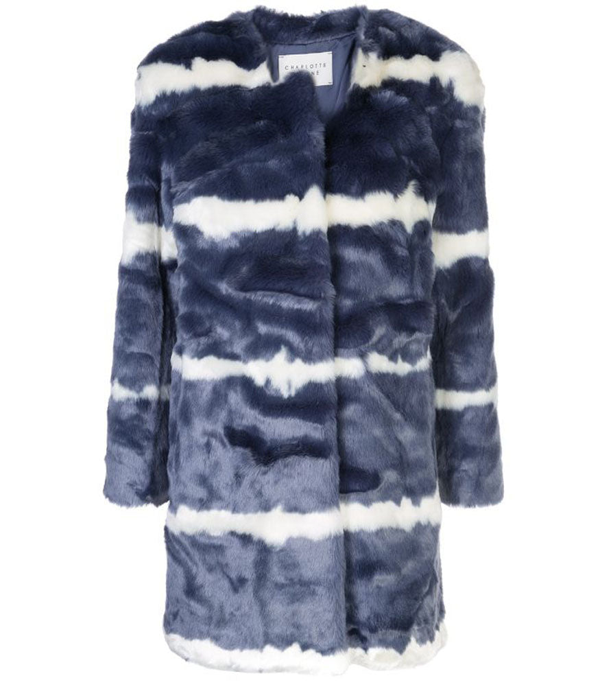 Charlotte Simone Denim Faux Fur Georgia Jacket