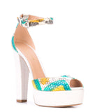 Madison Maison By Roberto Festa Yellow Venezia Platform Heel