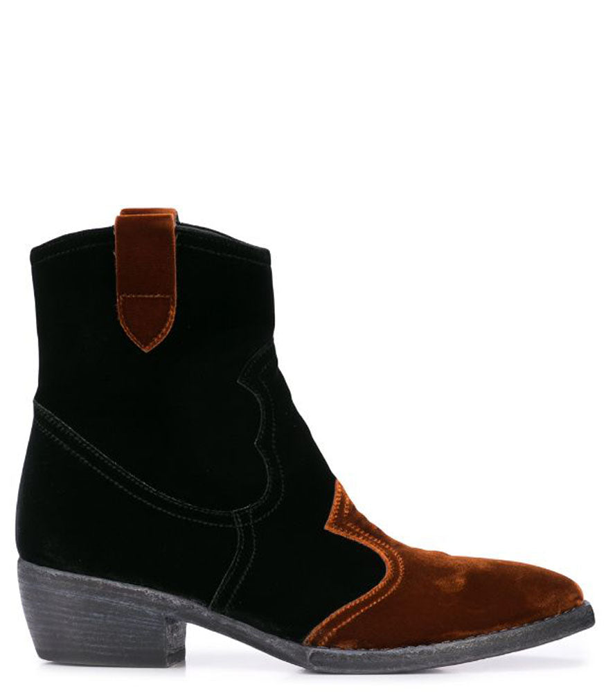 MADISON MAISON KING BLACK VELVET BOOTS