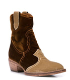 MADISON MAISON KING TAN VELVET BOOTS