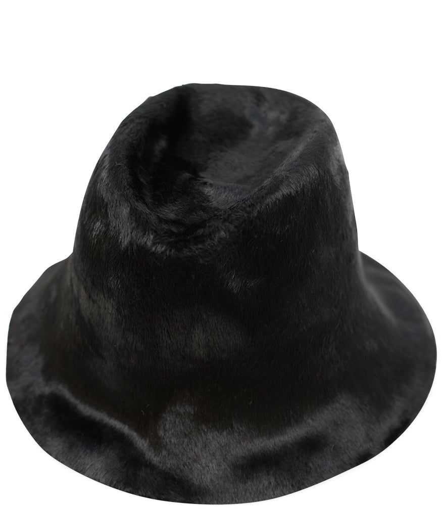 Reinhard Plank Fuzzy Black Lamp Cloche Hat