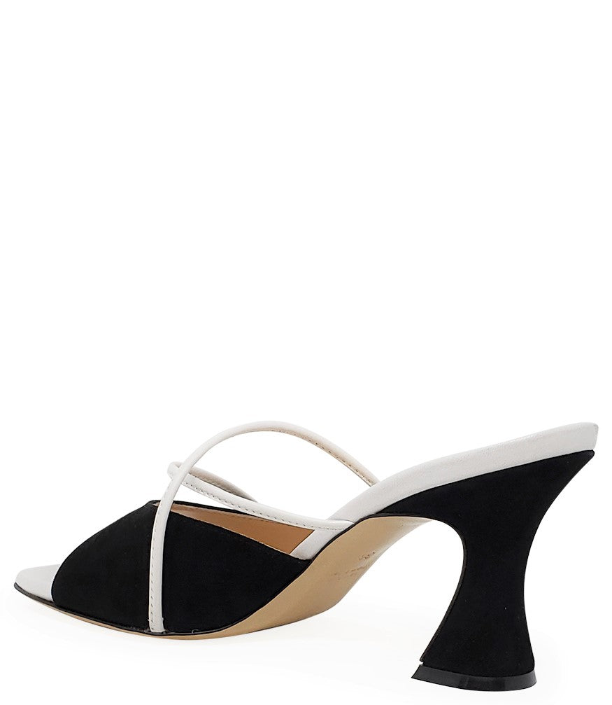 Madison Maison by Giampaolo Viozzi Black/White Mid Heel Sandal