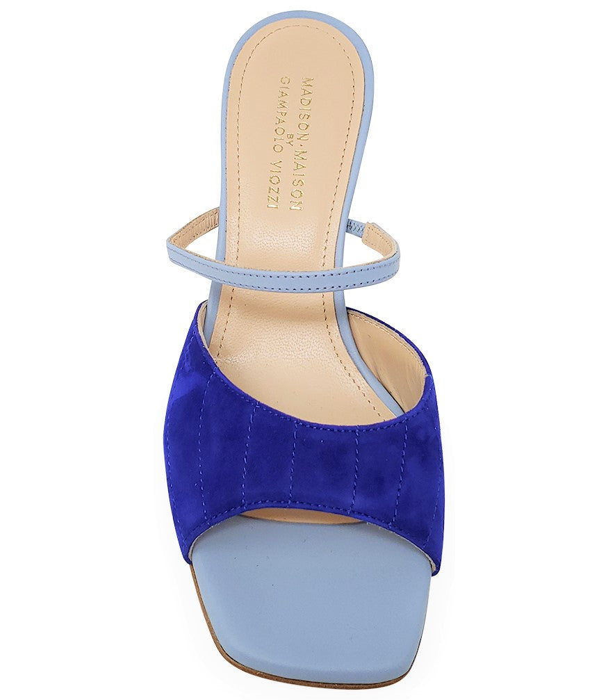 Madison Maison by Giampaolo Viozzi Navy/Skyblue Mid Heel Sandal