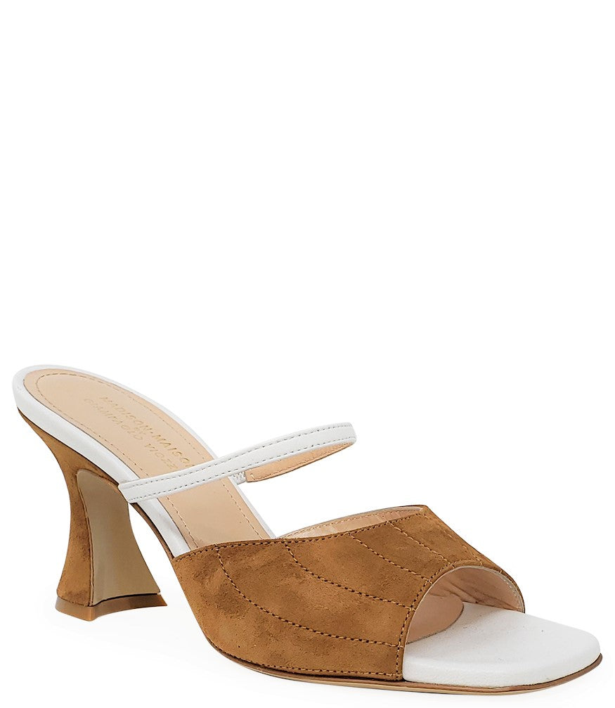 Madison Maison by Giampaolo Viozzi White/Beige Mid Heel Sandal