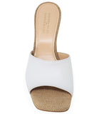 Madison Maison by Giampaolo Viozzi Tan/White Mid Heel Sandal