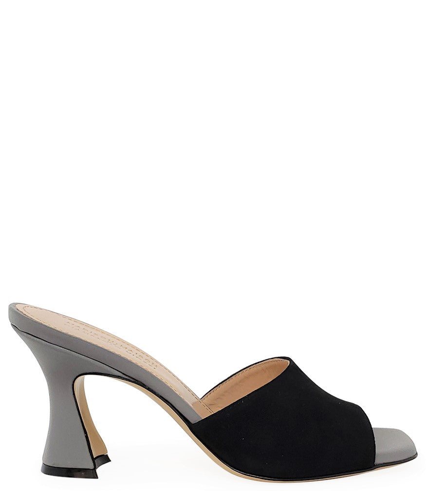 Madison Maison by Giampaolo Viozzi Black/Grey Mid Heel Sandal