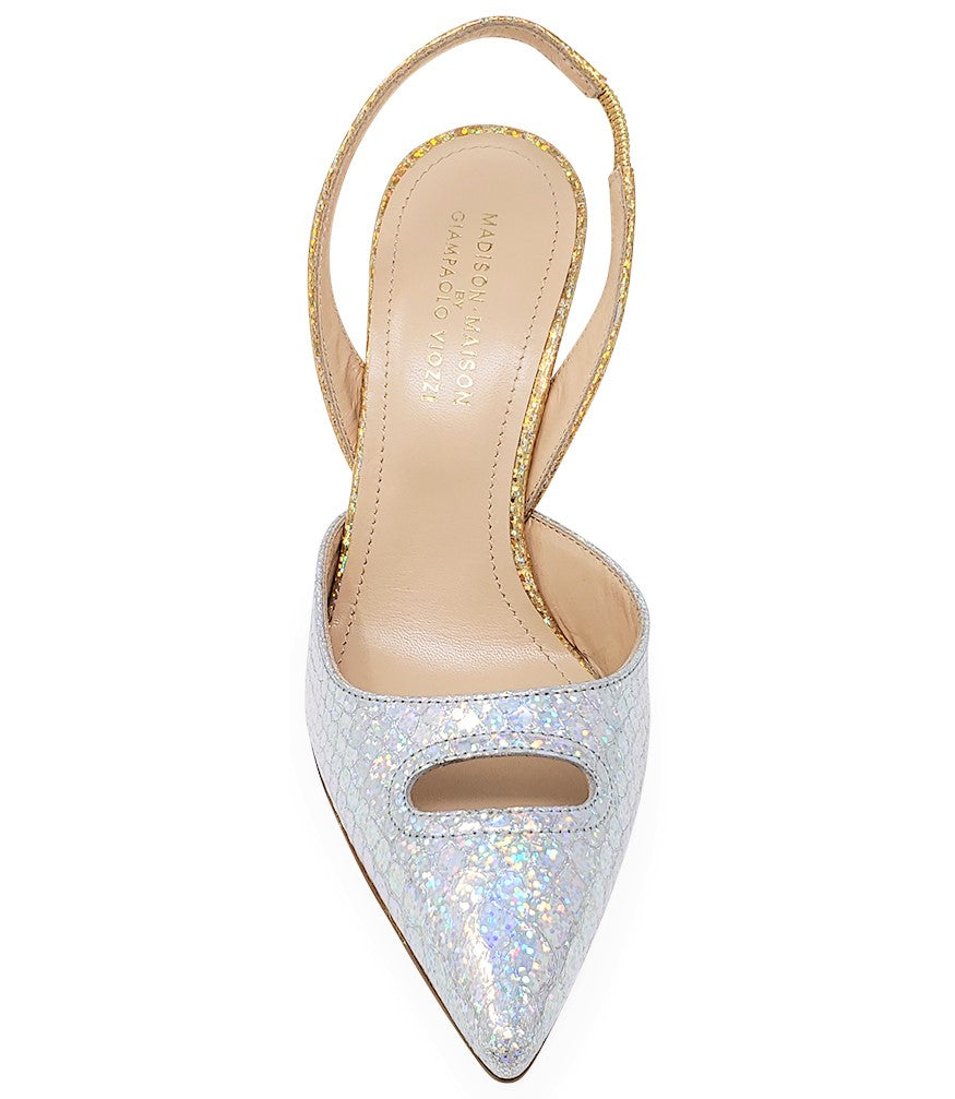 Madison Maison by Giampaolo Viozzi Gold Silver Mid Heel Pump
