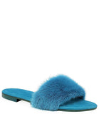 Madison Maison Wide Band Turquoise Mink Sandals