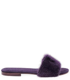 Madison Maison Wide Band Purple Mink Sandal