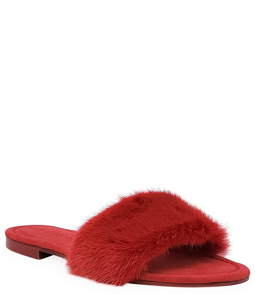 Madison Maison Wide Band Red Mink Sandals