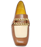 MADISON MAISON BY MARA BINI FLAT LOAFER TAN/CREAM