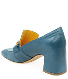 MADISON MAISON  BY MARA BINI HEEL LOAFER BLU/TURQ