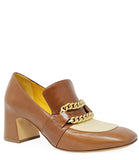 MADISON MAISON BY MARA BINI HEEL LOAFER TAN/CREAM