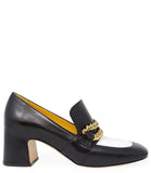 MADISON MAISON BY MARA BINI HEEL LOAFER BLACK/WHITE