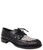 Rocco P Black/Silver Lace Up