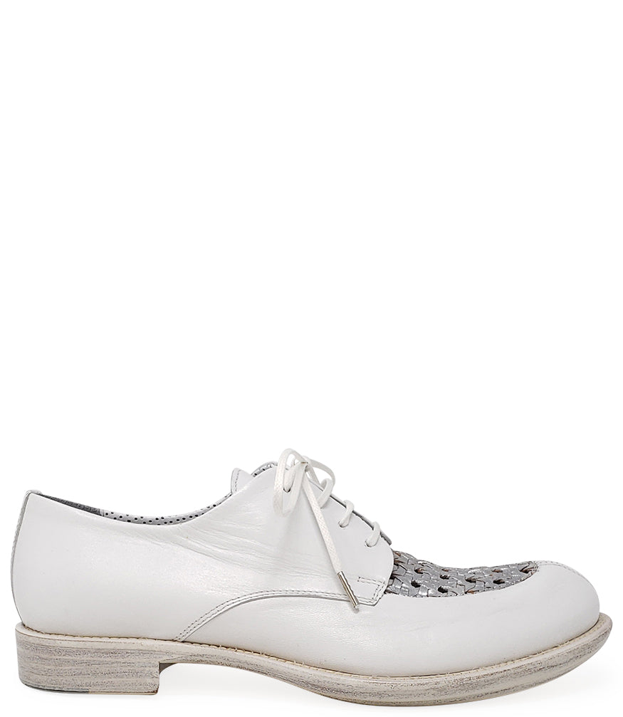 Rocco P Lace up White/Silver