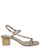 Del Carlo Open Toe Heel GOLD