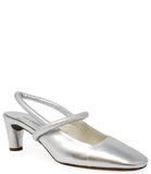 Del Carlo Closed Toe Heel Silver