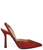 Madison Maison by Giampaolo Viozzi Red Glitter Hi Heel