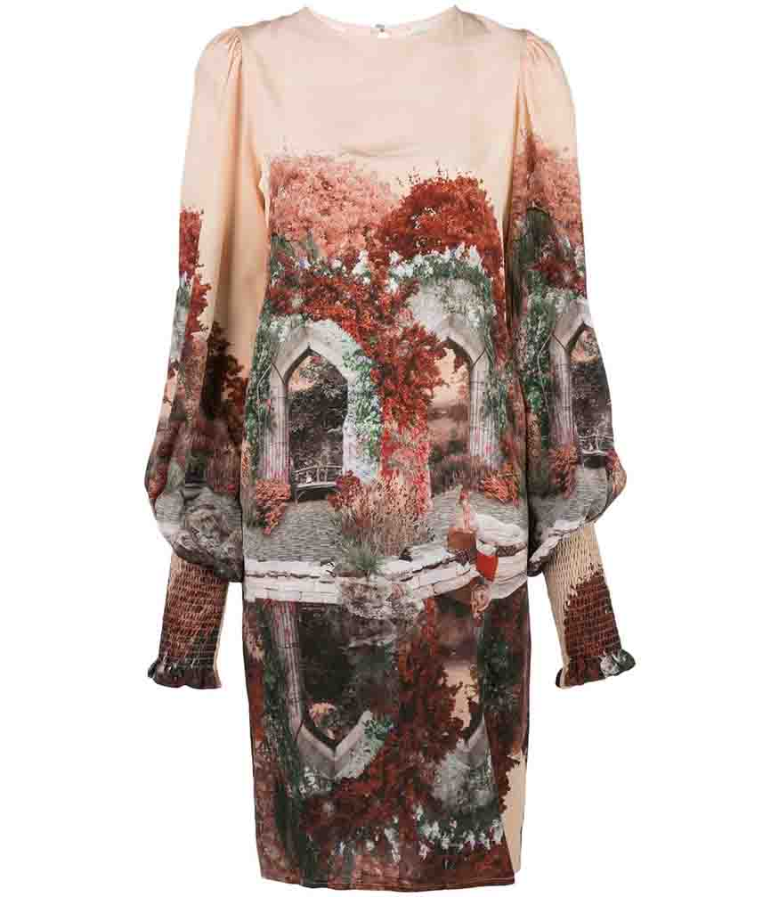 Fete Imperiale Yse Narcisse Silk Dress