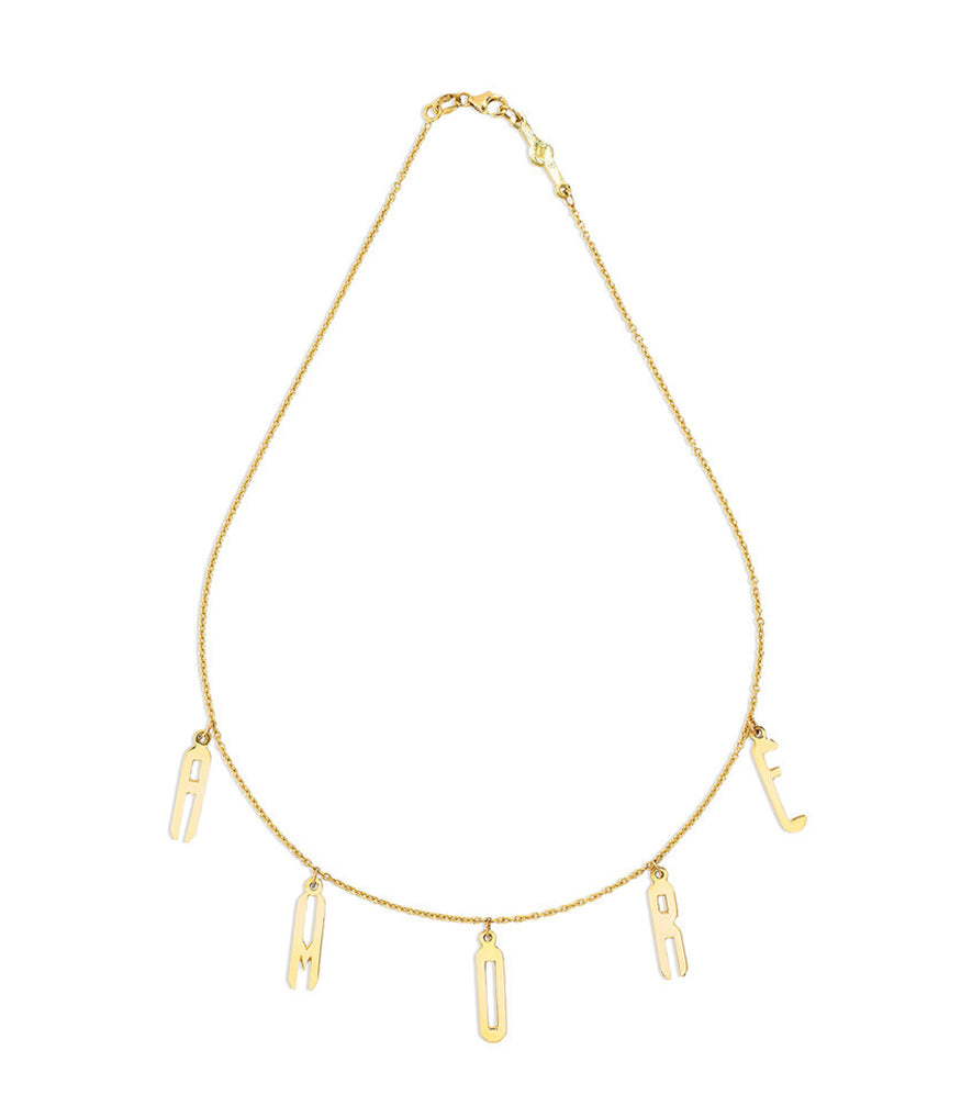 Renato Cipullo Amorosa Necklace Gold Drop Letter
