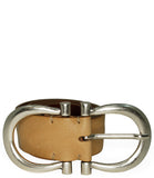 Post & Co Camel Leather Vintage Belt