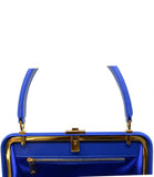 AMATO DANIELE MESH ELECTRIC BLUE SHOULDER HANDBAG