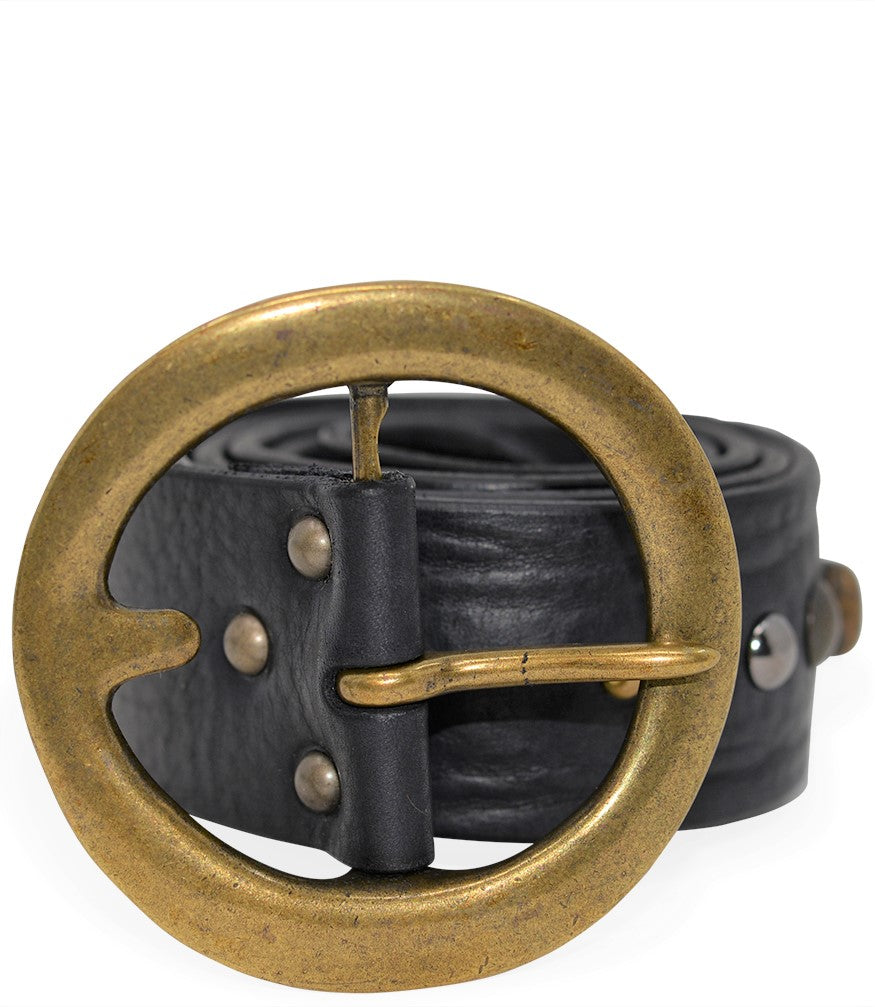 RICCARDO FORCONI NERO 4042 LEATHER BELT