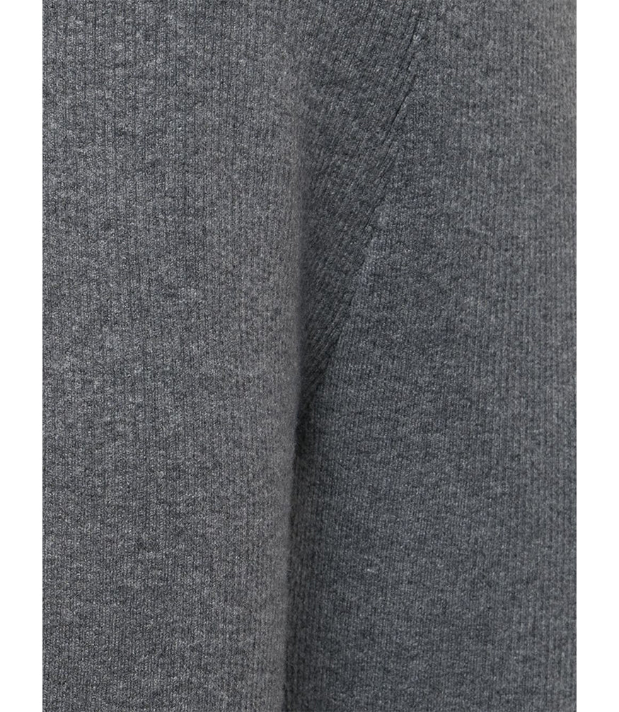 Duffy GREY RIBBED JOGGER W ANKL