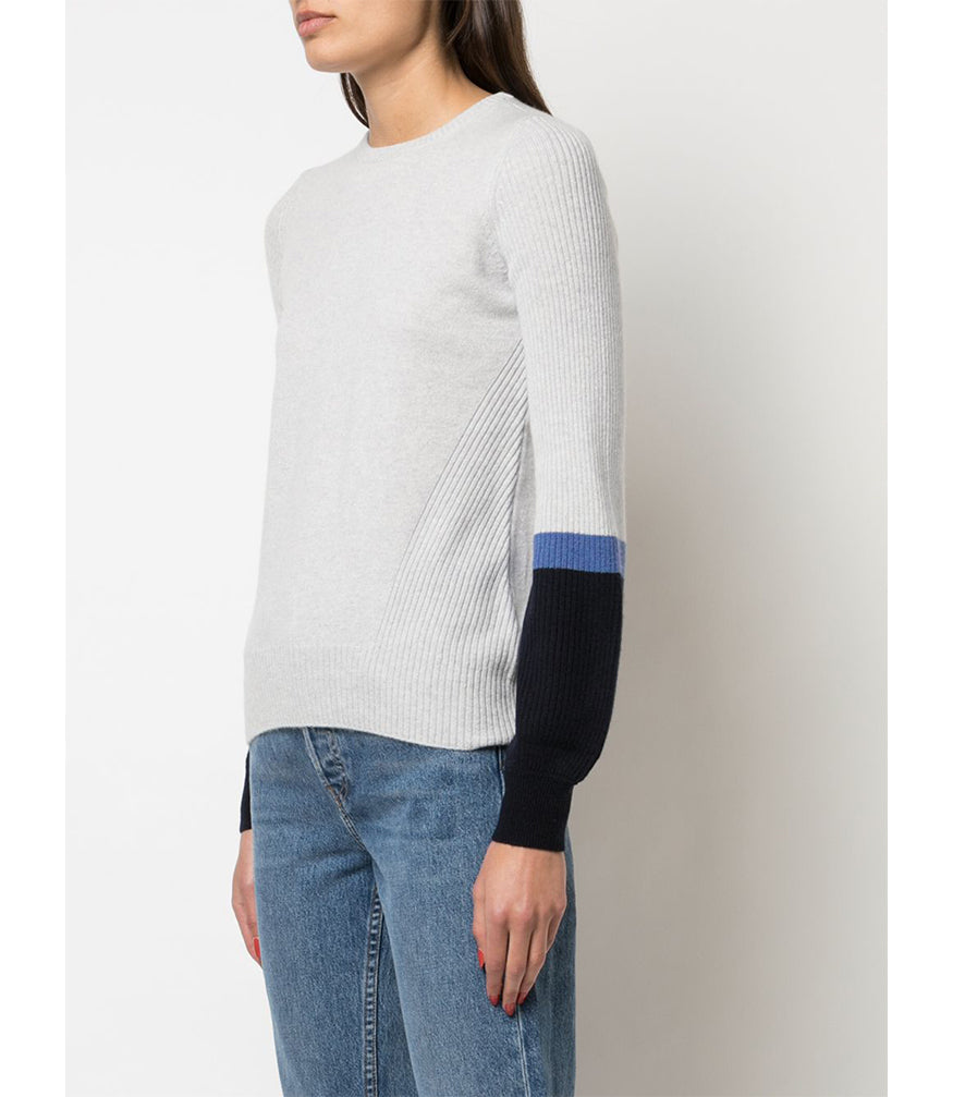 Duffy Mist/Navy Bell Sleeve Sweater