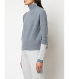 Duffy GREY RIBBED FUNNEL NECK