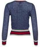 Happy Sheep Cardigan Navy/Red