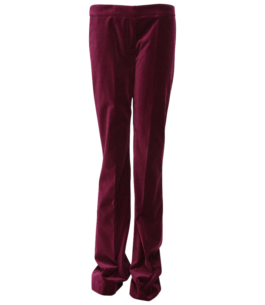 Giuliette Brown Red Flare Woven Pants