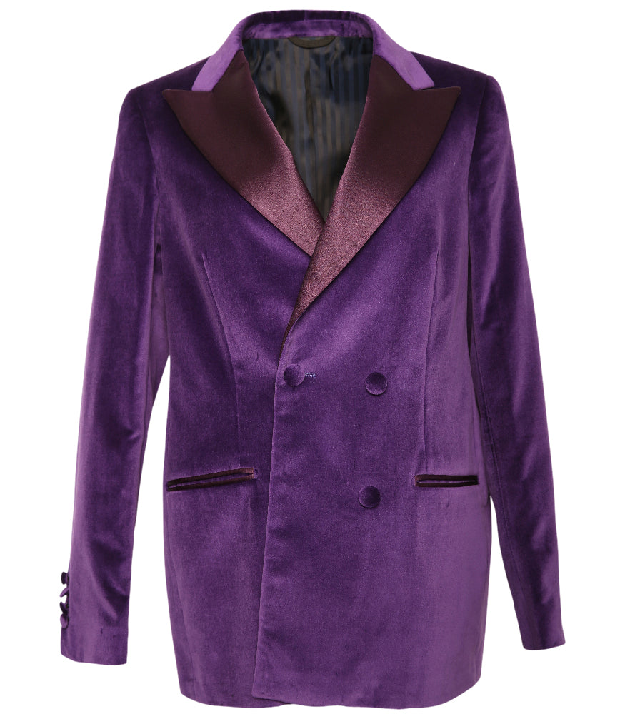 Purple Velvet/Silk Blazer