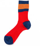 Alto Milano Kyoto Red Multi Socks
