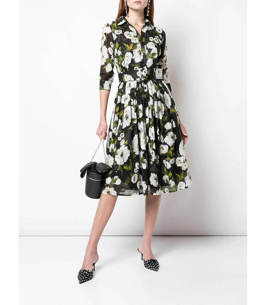 Samantha Sung Indigo Sharon Rose Audrey Dress