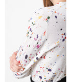 Samantha Sung Multicolor Splash Charlotte Cardigan